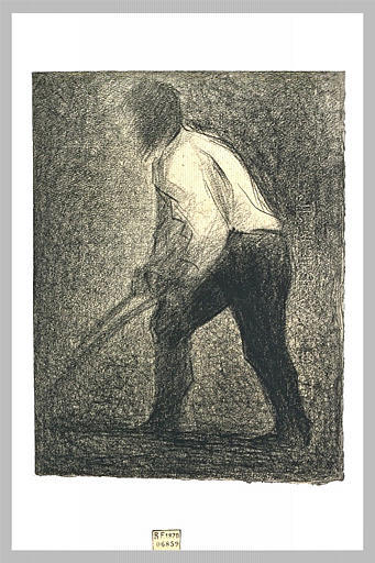 famous painting Il Ploughman of Georges Pierre Seurat