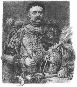 Jan Matejko - jan sobieski , portraited in una armatura scala sfilata