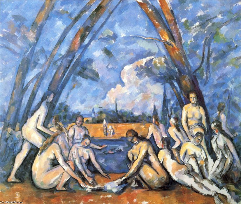 famous painting Grandi Bagnanti of Paul Cezanne