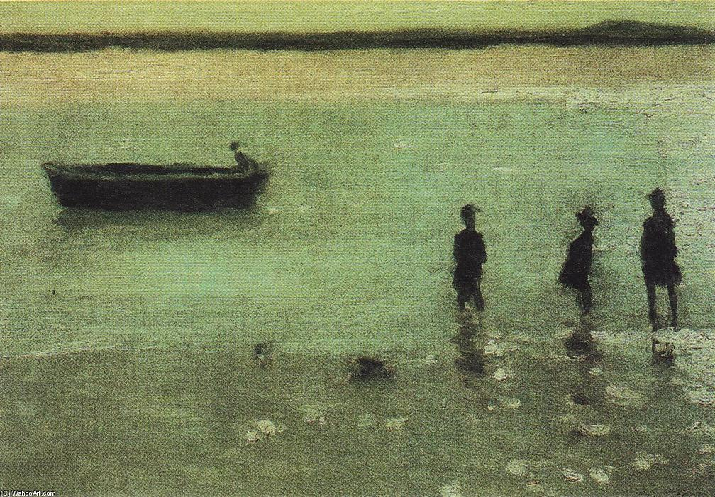 famous painting Spiaggia a Etaples of Philip Wilson Steer