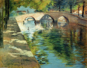 William Merritt Chase - Riflessioni ( aka canale scena )