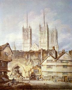 William Turner - cattedrale chiesa a lincoln