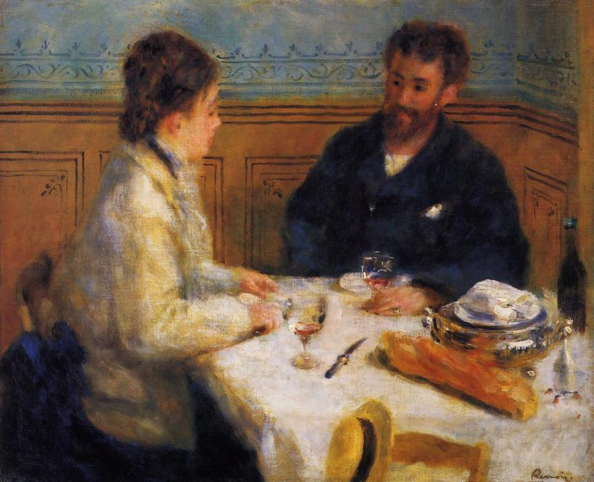 famous painting Il Luncheon of Pierre-Auguste Renoir
