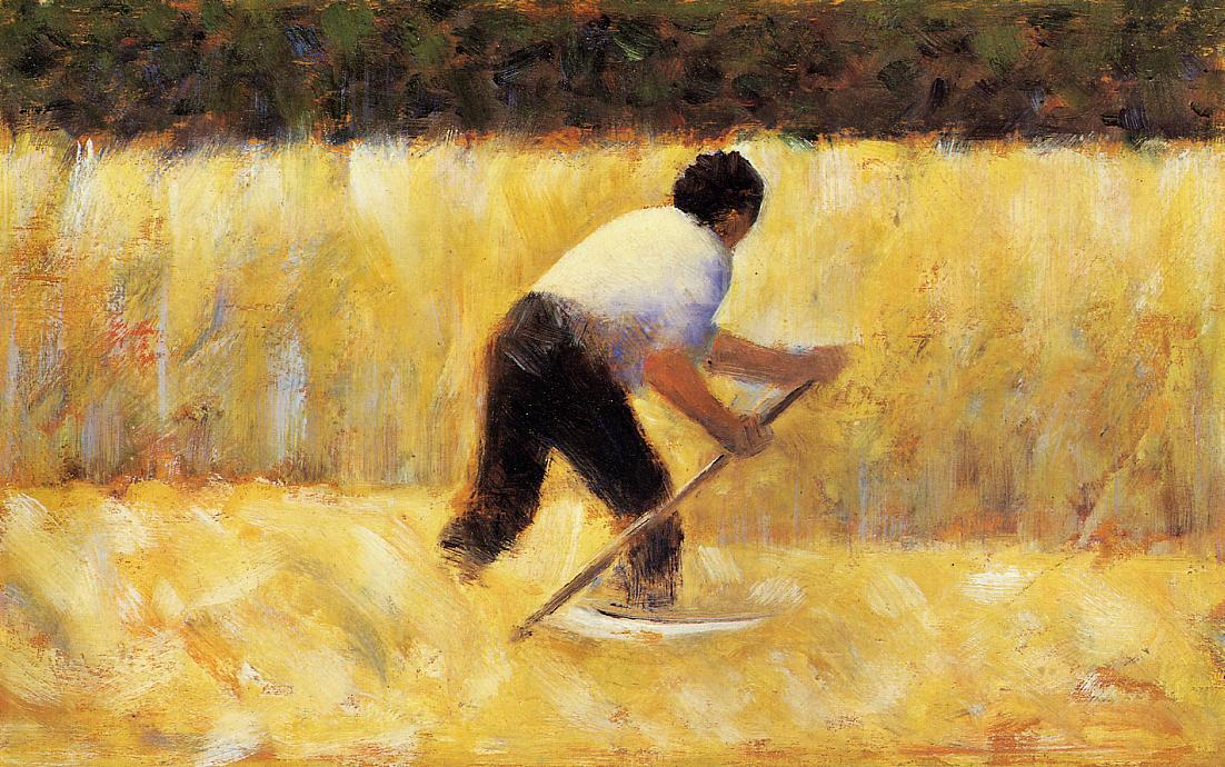famous painting Il Mower of Georges Pierre Seurat