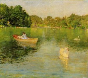 William Merritt Chase - sul lago CENTRALE  parco