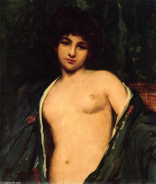 famous painting Ritratto di Evelyn Nesbitt of James Carroll Beckwith