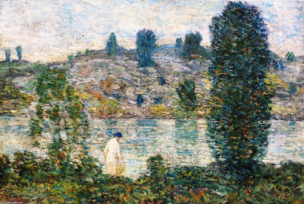 famous painting Estate afternooon of Frederick Childe Hassam