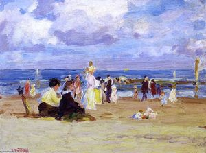 Edward Henry Potthast - Domenica al Beach