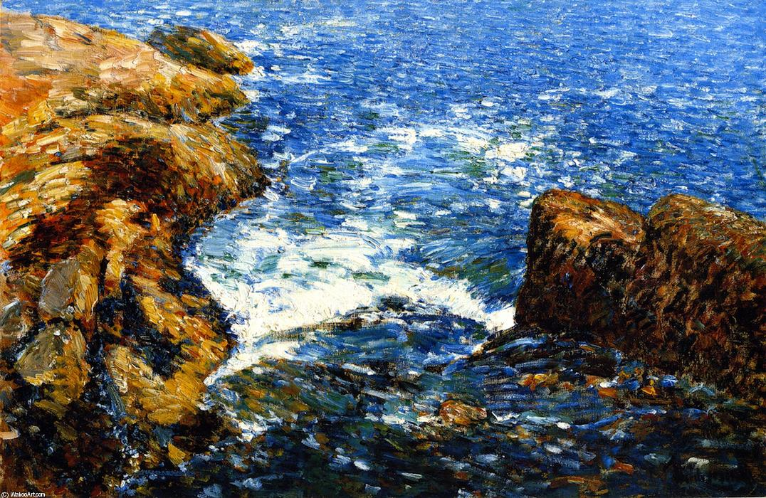 famous painting Surf e rocce of Frederick Childe Hassam