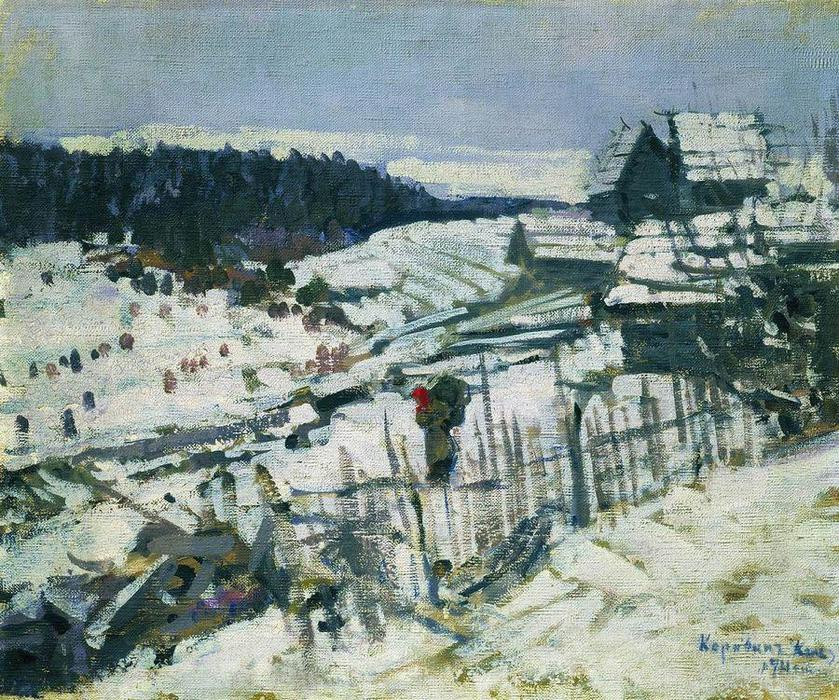 famous painting Inverno of Konstantin Alekseyevich Korovin