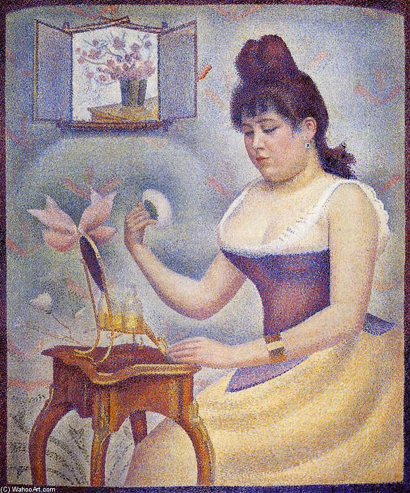 famous painting Giovane donna polverizzazione Se stessa of Georges Pierre Seurat
