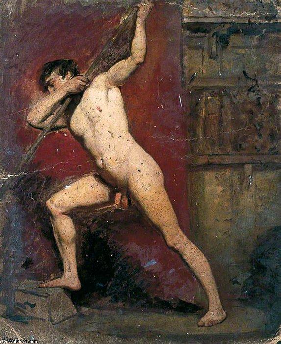 nudo maschile con personale - di William Etty | Riproduzioni Di ...