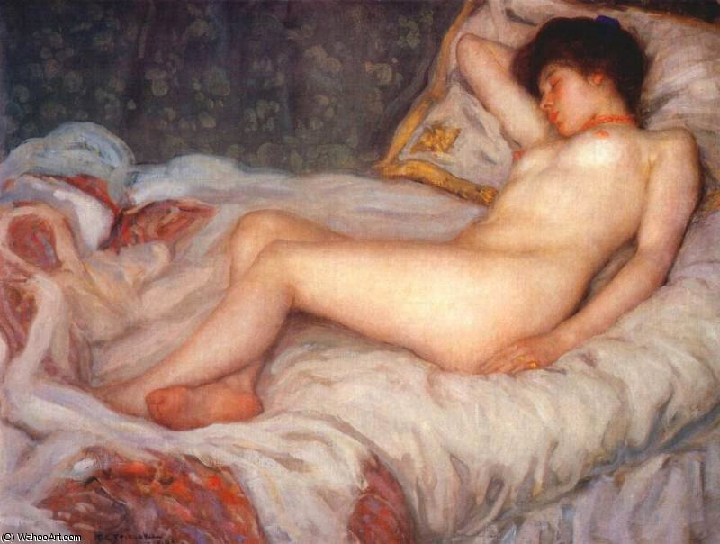 famous painting sonno of Frederick Carl Frieseke