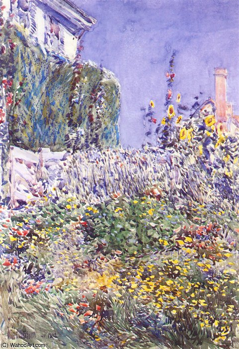 famous painting dexters giardino of Frederick Childe Hassam