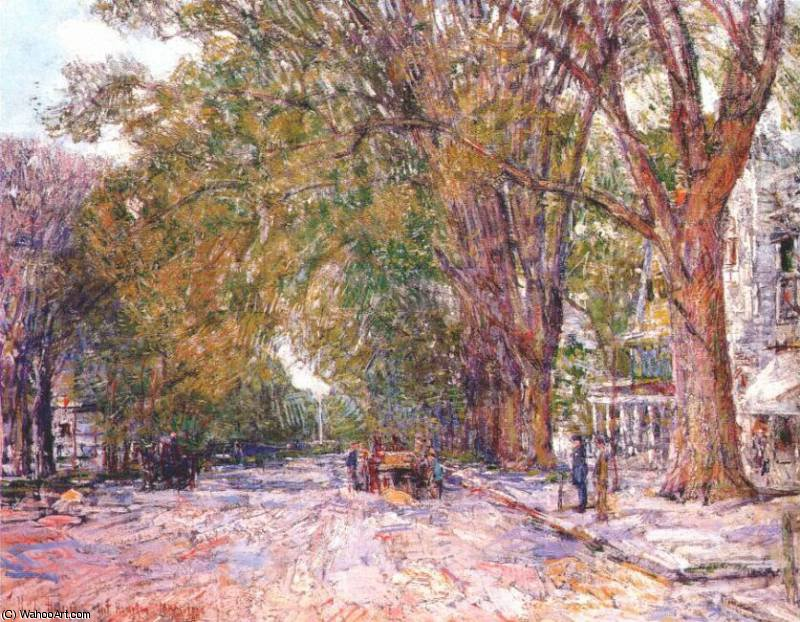 famous painting olmi, East Hampton, New York of Frederick Childe Hassam