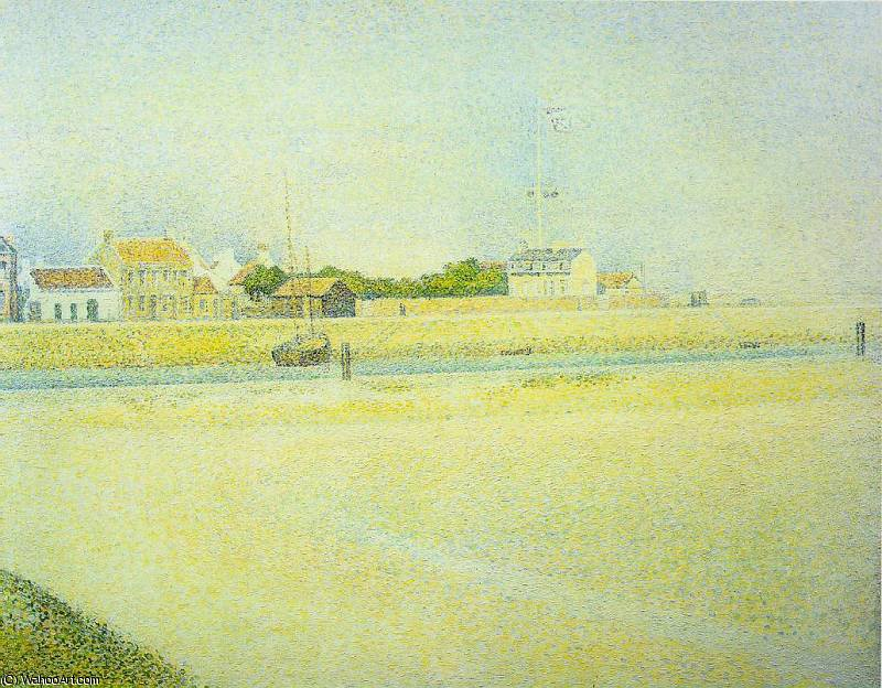 famous painting Il canale di Gravelines Grand Fort-Philippe of Georges Pierre Seurat
