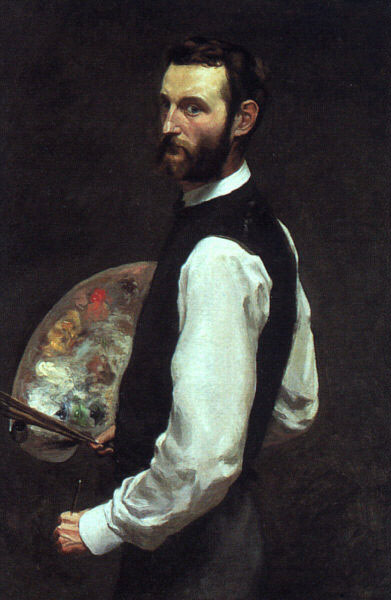 famous painting autoritratto of Jean Frederic Bazille