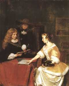 Gerard Ter Borch The Younger - il musica party