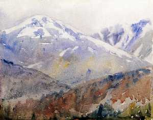 Charles H Woodbury - prima neve monte washington