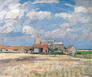 John Alfred Arnesby Brown - Morston Chiesa , Norfolk