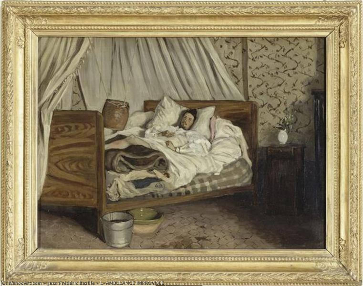 famous painting L'AMBULANCE IMPROVISÉE of Jean Frederic Bazille