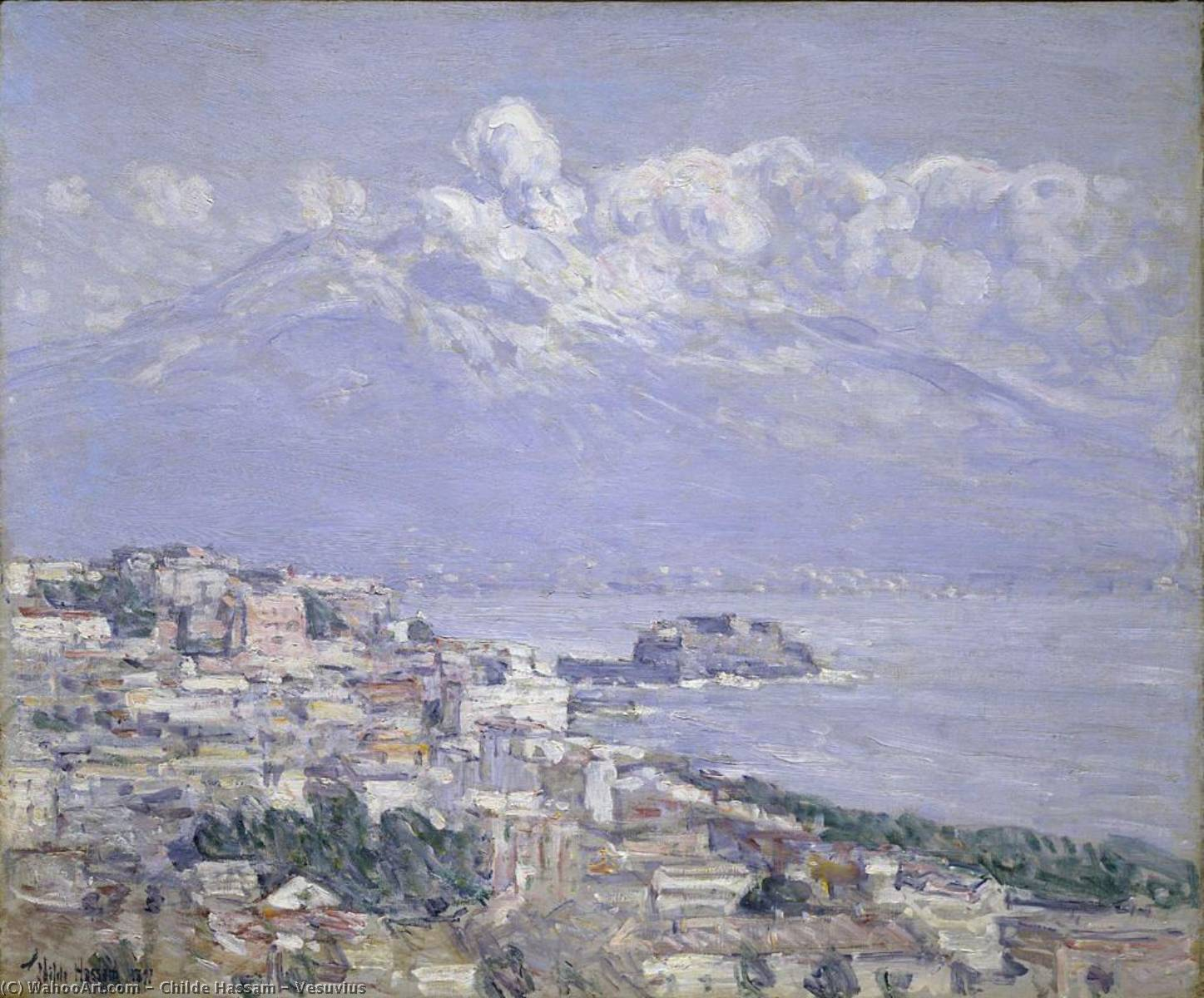 famous painting Vesuvio of Frederick Childe Hassam
