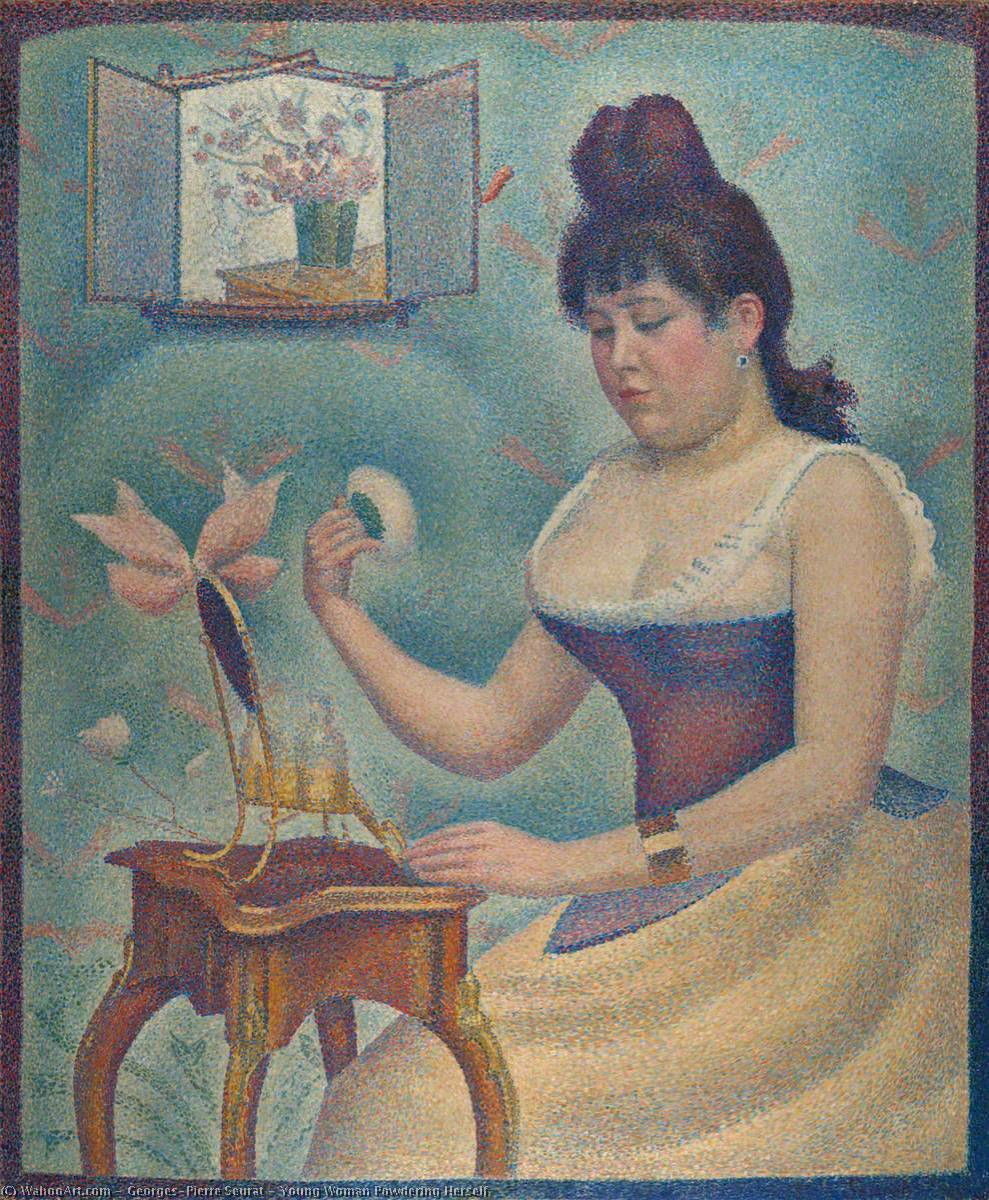 famous painting giovane donna polverizzazione  stesso  of Georges Pierre Seurat